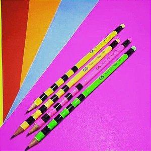 Lápis Preto Cis Wave Grip Neon HB Cor Sortida Unidade