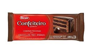 Cobertura Chocolate Barra Harald Confeiteiro Meio Amargo 1,050kg R.102071 Unidade