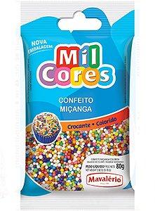 Confeito para Doces Mavalério Miçanga Colorida Mil Cores 80 Gramas R.04740 Unidade