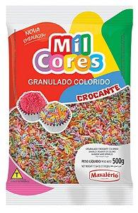 Granulado Crocante Mavalério Colorido Mil Cores 500 Gramas R.04288 Unidade