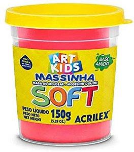 Massinha de Modelar Soft Acrilex Rosa Maravilha 150gr R.073150107 Unidade