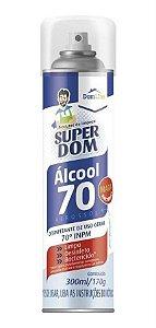 Álcool Aerossol Super Dom 70% 300ml/170 Gramas Unidade