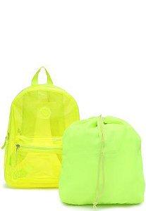 Mochila Clio Amarelo Neon R.cg2291 Unidade