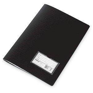 Pasta Catálogo Com Visor Polibrás Preta Com 10 Envelopes R.60104 Unidade