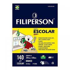 Bloco Escolar Desenho Filiperson 140Gr A3 Bco R.Fp01390 Com 20 Folhas