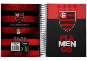 Caderno Capa Dura Foroni 1X1 Esp Univ 96 Folhas Flamengo R.338840