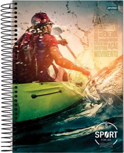 Caderno Capa Dura Jandaia 12X1 Esp Univ 240 Folhas Sport R.52665