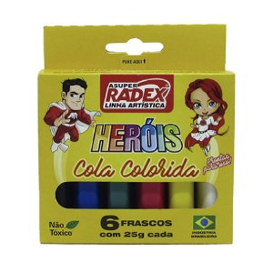 Cola Colorida Radex Neon 6 Cores R.7973