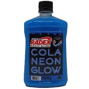 Cola Slime Glow Radex Azul Neon 500Gr R.7306 Unidade