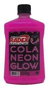 Cola Slime Glow Radex Rosa Neon 500Gr R.7308 Unidade