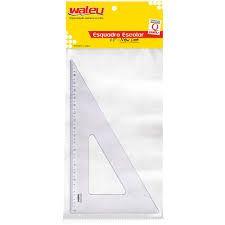 Esquadro Waleu 21X60 New Line Cristal R.10070004 Unidade