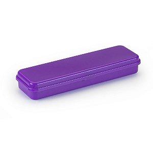 Estojo Plastico Plus Neon Roxo Waleu R.10080016 Unidade
