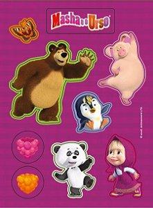 Etiqueta Stickers Jandaia Masha E O Urso R.63829 Com 6
