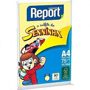 Papel A4 Report Amarelo Seninha Com 100
