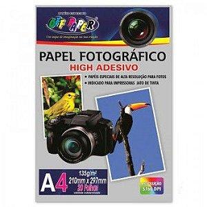 Papel Fotográfico Adesivo Off Paper A4 135Gr R.063 Pacote com 20 folhas