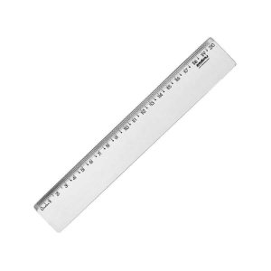 Régua Plástica Waleu Cristal 20Cm R.10270005 Unidade