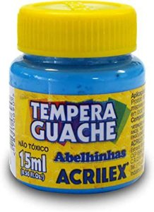 Tinta Guache Acrilex 15Ml Azul 020150559 Unidade