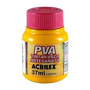 Tinta Plástica Acrilex Pva 37Ml Amarelo Ouro 032400505