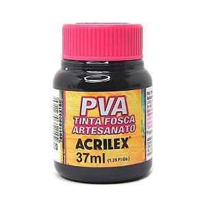 Tinta Plástica Acrilex Pva 37Ml Preto 032400520