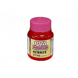 Tinta Plástica Acrilex Pva 37Ml Vermelho Escarlate 032400508