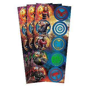 Adesivo Decorativo Redondo Regina Avengers 4 R.655 Com 3