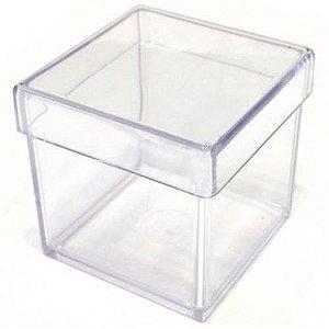 Caixa Acrílica Lecpoc Cristal 5X5 Centímetros Com 10