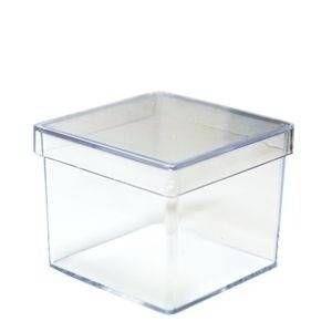 Caixa Acrílica Old Plast Cristal  4X4 Centímetros Com 10