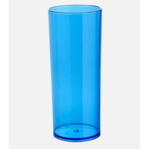 Copo Long Drink Azul Transparente 300ml Unidade