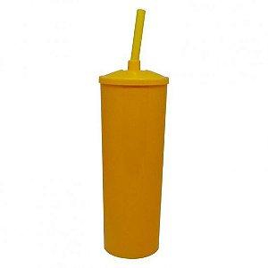 Copo Long Drink Play Amalu Amarelo Solido 300Ml Unidade