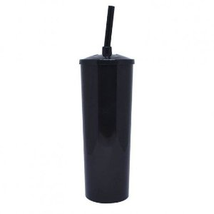 Copo Long Drink Play Amalu Preto 300Ml Unidade