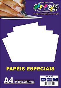 Papel Couche Branco Off Paper A4 170gr com 50 folhas