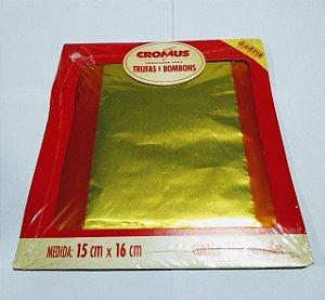 Embalagem Para Bombom Cromus 15X16 Amarelo Com 100