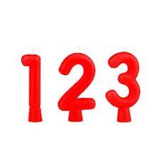 Vela de Aniversário Regina Solid Colors Números Solid Cor Vermelha Unidade