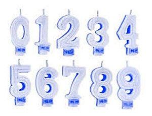 Vela de Aniversário Regina Números Com Glitter Cor Azul Unidade