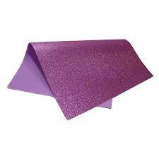 Placa Eva Com Glitter Violeta 40cmx48cm Unidade