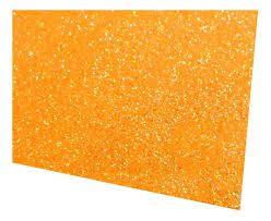 Placa Eva Com Glitter Laranja Neon 40cmx48cm Unidade