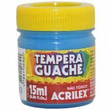 Tinta Guache Acrilex Azul Celeste 15ml 020150503 Unidade