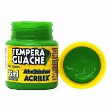 Tinta Guache Acrilex 15ml Verde Folha R.020150510 Unidade