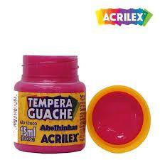Tinta Guache Acrilex 15ml Rosa R.020150537 Unidade