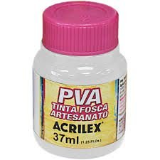 Tinta Plástica Acrilex Pva 37ml Branco 032400519