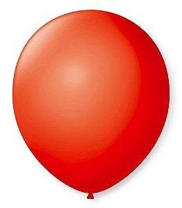 Bola Sao Roque Lisa N9 Imperial Vermelho Quente com 50
