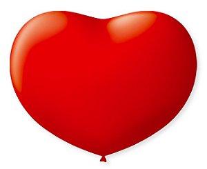 Bola Sao Roque Coração N6 Vermelho Quente Com 50