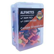 Alfinete Mapa Taça Jocar Sortidos R.93062 Caixa Com 50