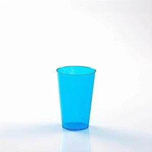 Copo Acrílico Cristal Azul 200Ml Com 10