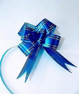Laço Fácil 18Mm Azul Com Listra Unidade R.254200