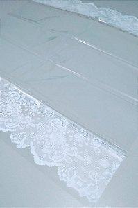 Toalha Plástica Com Barra Branca 70X70 Com 10