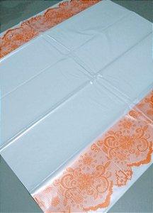 Toalha Plástica Com  Barra Laranja 70X70 Com 10