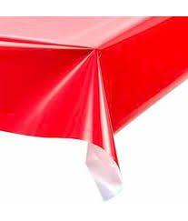 Toalha Plástica Lisa Vermelho 70X70 Com 10