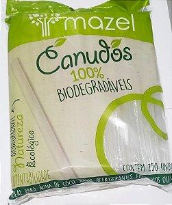 Canudo Biodegradavel 5Mm Mazel Pacote Com 250
