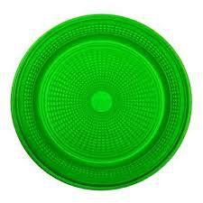 Prato Plástico Trik-Trik 15Cm Raso Verde Com 10